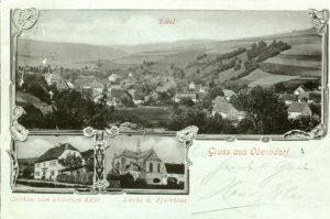 Ansichtskarte Oberndorf 1900